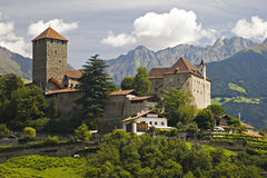 Castle Tirol. Famous historic building in South Tyrolia Stock Images