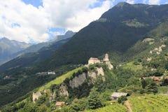 Castle Tirol. The medieval Tirol Castle near Meran in Italy Royalty Free Stock Image