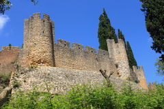 Castle of Tomar. Medieval castle of Tomar in Portugal royalty free stock image
