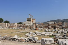 The castle and the tomb of Saint John in Selcuk Stock Photography