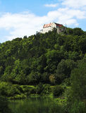 Castle on the top. Of the mountain Stock Images