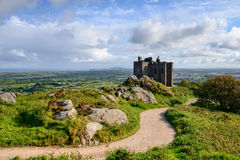 The castle on the top of Carn Brea Royalty Free Stock Image
