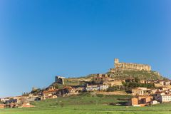 Castle on top of the hill in Atienza Royalty Free Stock Image