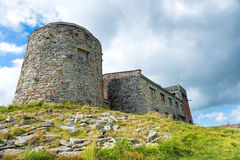 Castle on the top of mountain royalty free stock photos