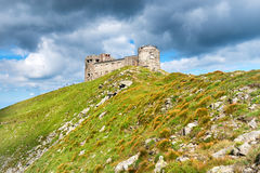 Castle on the top of mountain royalty free stock image