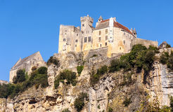 Castle on top of a mountain Stock Images