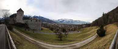 Vaduz Castle View Royalty Free Stock Photo