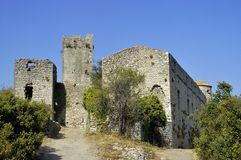 Castle of Tornac in the French area of the Cevennes Stock Image