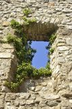 Castle of Tornac in the French area of the Cevennes Royalty Free Stock Images