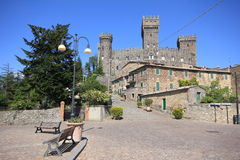 Castle of Torre Alfina. Lazio. Italy. Stock Photos