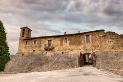 Castle of Torre del Colle, Umbria, Italy stock photo
