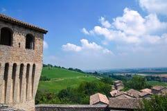 Castle of Torrechiara. Emilia-Romagna. Italy. Stock Photo