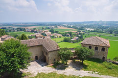 Castle of Torrechiara. Emilia-Romagna. Italy. Stock Photo