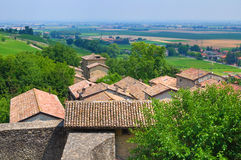 Castle of Torrechiara. Emilia-Romagna. Italy. Royalty Free Stock Photography