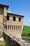 Castle of Torrechiara. Emilia-Romagna. Italy. Royalty Free Stock Images