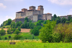 Castle of Torrechiara. Emilia-Romagna. Italy. Royalty Free Stock Photography