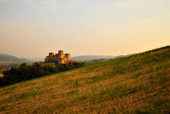 Castle in Torrechiara, Italy royalty free stock photography