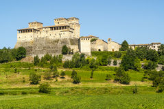 Castle of Torrechiara (Parma) Royalty Free Stock Photos
