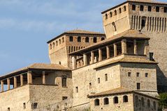 Castle of Torrechiara (Parma) Stock Photos