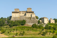 Castle of Torrechiara (Parma) Stock Photography