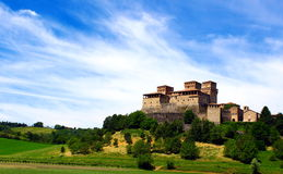 Castle of Torrechiara Royalty Free Stock Photos