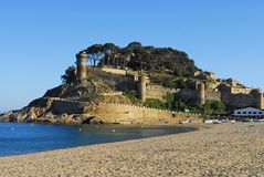 Castle in Tossa De Mar Stock Photo