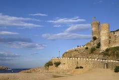 Castle of Tossa de Mar, Costa Brava, Girona, Spain Royalty Free Stock Photos