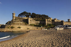 Castle of Tossa de Mar, Costa Brava, Girona, Spain Royalty Free Stock Photography