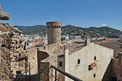 Castle of Tossa de Mar Royalty Free Stock Photo