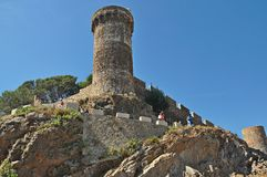 Castle of Tossa de Mar Royalty Free Stock Photo
