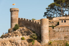 Castle at Tossa de Mar Spain Royalty Free Stock Photo