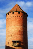 Castle tower. Against blue sky royalty free stock photo