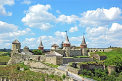 Castle tower. Old castle tower and wall in Ukraine Stock Image