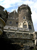 The castle tower. The East or Scottish Tower (back view) of the castle Casa Loma Stock Photo