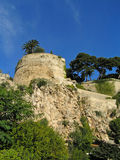 Castle tower. On the rock in Monaco Royalty Free Stock Photos
