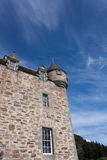 Castle Tower. A castle tower with blue sky royalty free stock photo