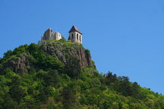 Castle Tower. Top of the hill is an outpost in Hungary Fuzer Stock Photography