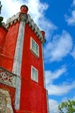 Castle Tower. Red Castle Tower - Sintra, Portugal stock photography