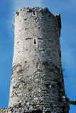 Castle tower. The old tower on background of sky, the castle tower Royalty Free Stock Photo