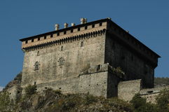 Castle tower. In valle d'aosta Royalty Free Stock Images