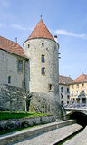 Castle Tower 4. Castle Tower in Yverdon. Switzerland Stock Image