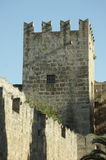 Castle tower. Ancient castle tower in Rhodes Royalty Free Stock Images