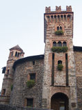 Castle Tower. The tower of the beautiful castle of Marne in Bergamo, Italy Stock Photos