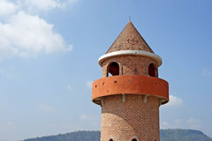 Castle tower with beautiful sky background Royalty Free Stock Images