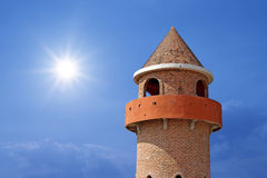 Castle tower with beautiful sky background Royalty Free Stock Image
