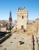 Castle tower of  Carmona Stock Photo