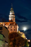 Castle Tower in Cesky Krumlov Royalty Free Stock Photography