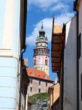 Castle tower, Cesky Krumlov, Czech Republic Royalty Free Stock Photography