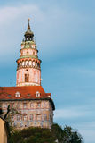 Castle tower in Cesky Krumlov, Czech republic Stock Image