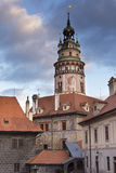 Castle tower in Cesky Krumlov Royalty Free Stock Photo